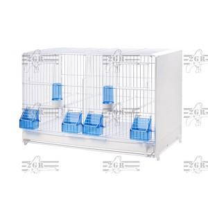 Kavez veliki plastificiran beli 58 x 30 x 33 cm